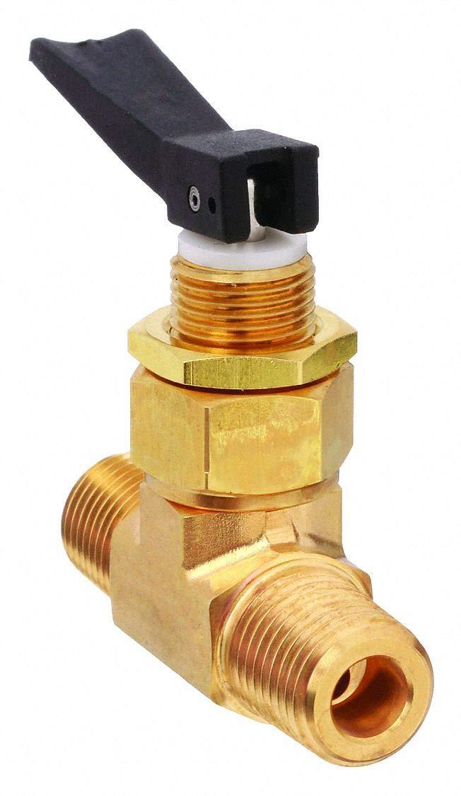 1/4'' MNPT Brass Mini Ball Valve Inline