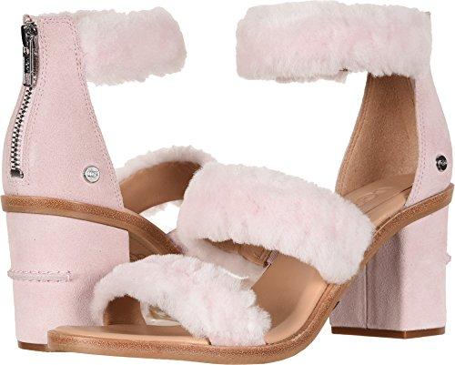 Ugg Dress - UGG Women's W Del Rey Fluff Heel Heeled Sandal, Seashell Pink, 8.5 M US