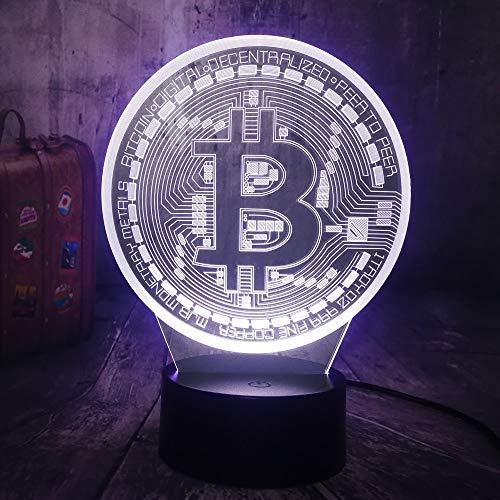 nachtlicht für kinder Weihnachtsgeschenke Night Light New Bitcoin Night Light 3D Usb Led Rgb Desktop Lamp Home Decor…