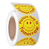 Picture Day Is Tomorrow Labels, 500 Per Roll