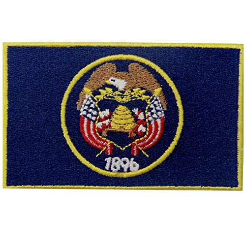 Utah State Flag Embroidered Emblem Iron On Sew On UT Patch