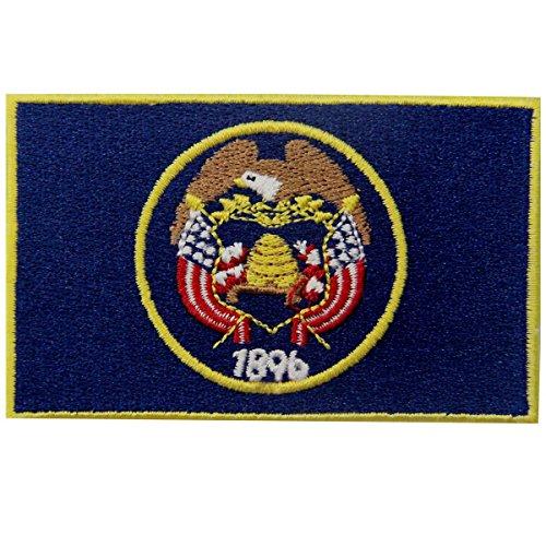 Utah Costumes (Utah State Flag Embroidered Emblem Iron On Sew On UT Patch)
