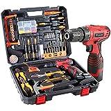Dedeo 16.8V Cordless Drill Driver Tool Kit, Power Tools Combo Kit 108-Piece Household Tool Kit Set