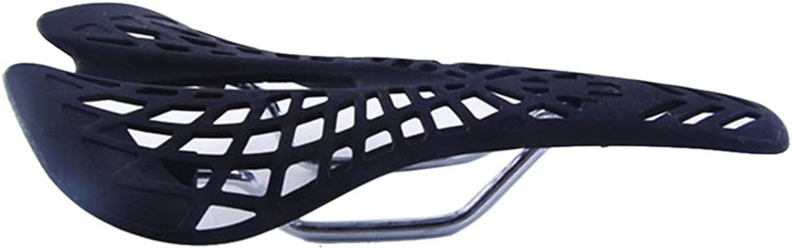 Black Jasnyfall Comfortable Bike Hollow Seat Saddle Bicycle Saddle Spider Web Cushion Ultralight Mountain Bike Cushion Bicycle Seat