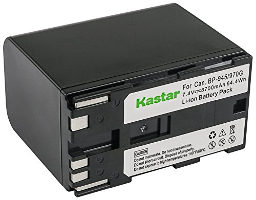 Bp 915 Lithium Ion Battery - Kastar Battery for Canon BP-911, BP-911K, BP-914, BP-915, BP-924, BP-927, BP-930, BP-930E, BP-930R, BP-941, BP-945, BP-950, BP-950G, BP-970, BP-970G, 955, 975 and Canon XL1 XL1S XL2 GL1 GL2 XF305 more