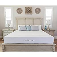 Vidafino 8' Inch AeroBreathe® Gel Infused Reactive Memory Foam Mattress - No-Risk 45 Day Trial & 10-Year Warranty - CertiPUR & Oeko-tex Certified (Queen)