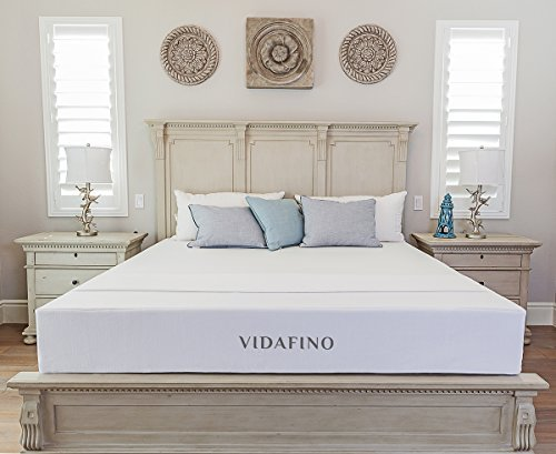 "Vidafino 8"" Inch AeroBreathe Gel Infused Reactive Memory Foam Mattress - No-Risk 45 Day Trial & 10-Year Warranty - CertiPUR & Oeko-tex Certified (Queen)"