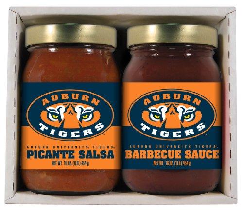 2 Pack AUBURN Tigers Double Play BBQ (Auburn Tigers Salsa)