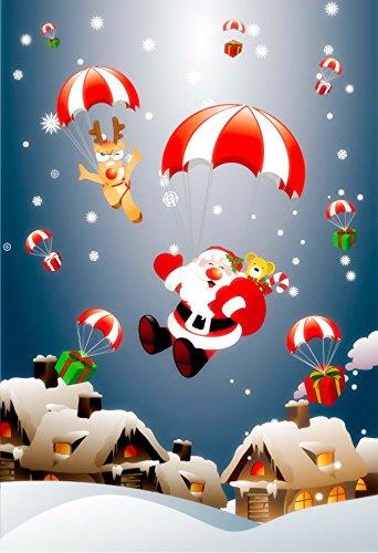 de6cc4a480 Premium Christmas Garden Flag Merry Christmas Decoration Holiday flag  Decorations with Cute Santa   Rudolph for