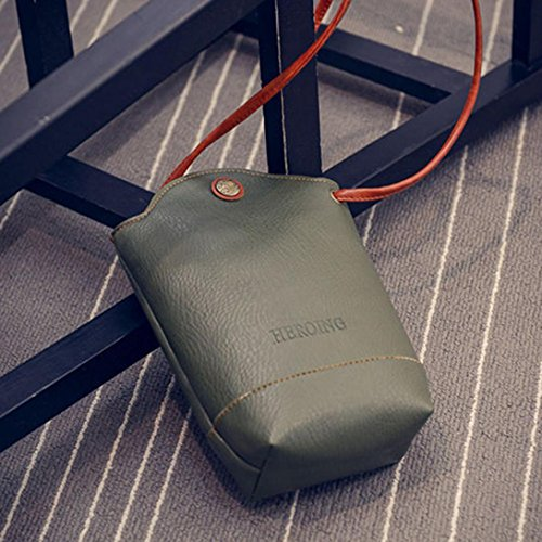 Green Bags Messenger Shoulder Crossbody Slim Bags Handbag Small Women KESEE pqAx8wUzx
