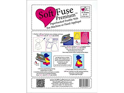 - Shades Textiles Pkg 10pc Soft Fuse Premium 8x9 Pkg10 Piece, 1-(Pack)