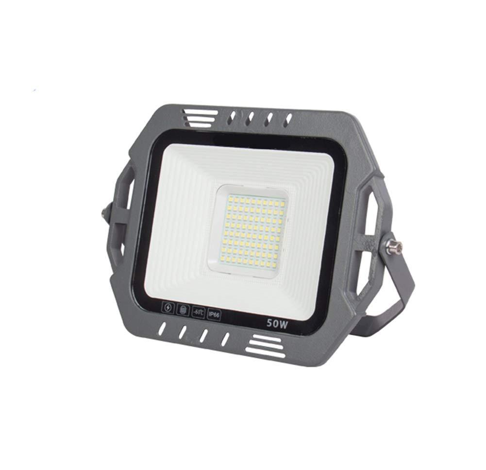 LED Faretto Da Esterno,Outdoor Luminosa Eccellente Spotlight Stadio Fabbrica Di Luce Di Proiezione Impermeabile Cantiere Di Costruzione (colore   Luce bianca-50W)