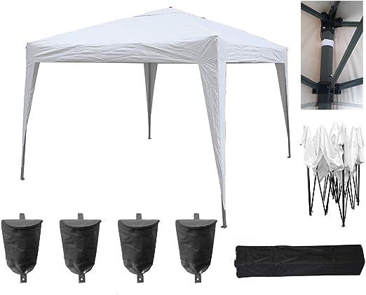 MCC® Home 3 x 3 m toldo de Carpa, Impermeable, para Exteriores (NS) (Blanco): Amazon.es: Jardín
