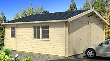Blockhausgarage d cm mm carport gartenhaus