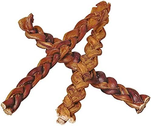 "Dog Treats: Pawstruck 12"" Braided Bully Sticks"