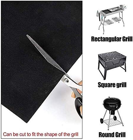 Dljyy Grill Mat Set di 6, Non Riutilizzabile Stick termoresistente Barbecue Cottura Griglie Mat, 40 x 33 cm, for cuocere, Cottura, Cottura