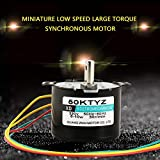 1PCS AC220V 5-50RPM Miniature Low Speed Large Torque of Force Synchronous Motor CW/CCW (30rpm)