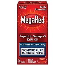 MegaRed 750mg Ultra Concentration Omega-3 Krill Oil, 40 softgels