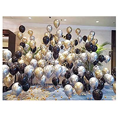 2020 Balloons New Years Eve Party Decorations Kit, Gold Silver and Black Balloons Sets, lunar New Year's Graduation Party Supplies 2020 Decor: Toys & Games