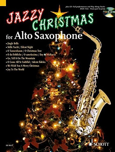 jazzy christmas for alto saxophone plus cd band playbacks midi files klavierstimme zum ausdrucken alt saxophon klavier ad libitum ausgabe mit cd
