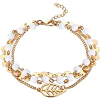Fesciory Women Adjustable Beach Gold Alloy Foot Anklet (Multiple Option)