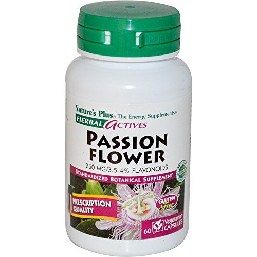 Herbal Actives, Passion Flower, 250 mg, 60 Veggie Caps - Nature's Plus by Nature's Plus Natures Plus Passion Flower