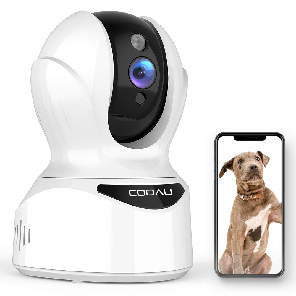 COOAU 4MP HD Home Security Camera, AI WiFi IP Pet Camera Wireless Baby Monitor with Face, Sound and Motion Detection, Motion Tracking, Night Vision, Two-Way Audio, Work with Cloud Service and Alexa by COOAU