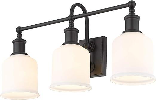 Z-Lite 733-3V-MB Bryant 3 Light 24 inch Matte Black Vanity Wall Light