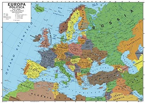 Cartina Italia Politica Senza Scritte.Carta Geografica Murale Europa 100x140 Scolastica Bifacciale Fisica E Politica Amazon It Cancelleria E Prodotti Per Ufficio