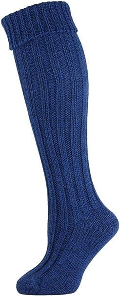 Mens Medium Charcoal Grey Wool Kilt Knee Length Socks Shoe Size 8-10