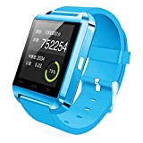 Relee U8 Bluetooth Smart Wrist Watch Phone Mate with Iphone Android Samsung HTC LG H (Azure)