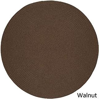 product image for Rhody Rug Woolux Wool Braided Rug - 6' Round Walnut