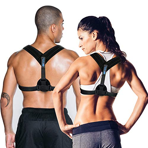 Elite Factory Body Wellness Posture Corrector for Women & Man - Back Support Brace - Adjustable Posture Fixer - Invisible Under Clothes & Comfortable Clavicle Brace ()
