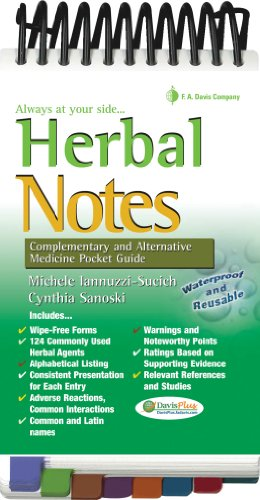 Herbal Notes: Complementary & Alternative Medicine Pocket Guide (Davis's Notes)