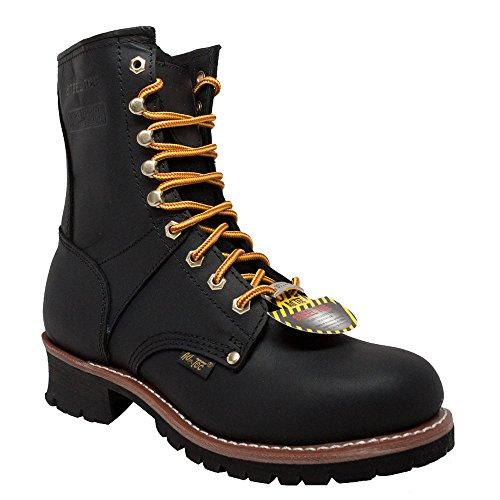 AdTec Men's 9-Inch Steel-Toe Logger Boot