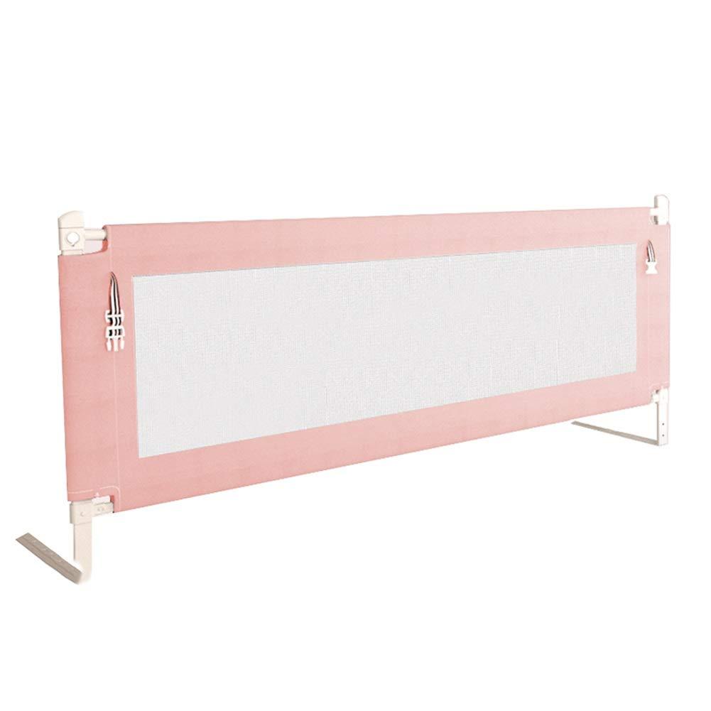 ベッドフェンス ピンクの子供のためのベッドの柵、縦の持ち上がるベッドの監視、調節可能なベッドサポート柵 (サイズ さいず : Length 2m) Length 2m  B07PKHHP3M