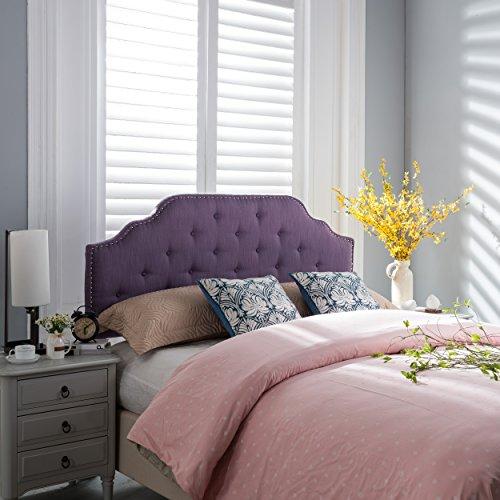 - Great Deal Furniture 298483 Luella Purple Fabric Queen/Full Headboard,