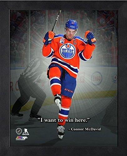 Connor McDavid Edmonton Oilers NHL Pro Quotes Photo (Size: 9