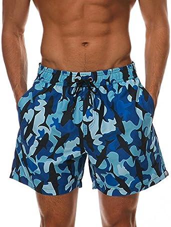 F/_Gotal Mens Swimming Trunks Quick Dry Board Shorts Beach Shorts Cute Panda Printed Boxer Briefs Swimwear Bathing Suits