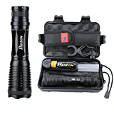 L2 LED Flashlight Phixton Tactical Military Police Handheld 1200lm Zoomable 5-Mode Metal Water-resistant