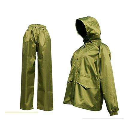 Llsdls Chaqueta Impermeable Impermeable Traje de pantalón en ...