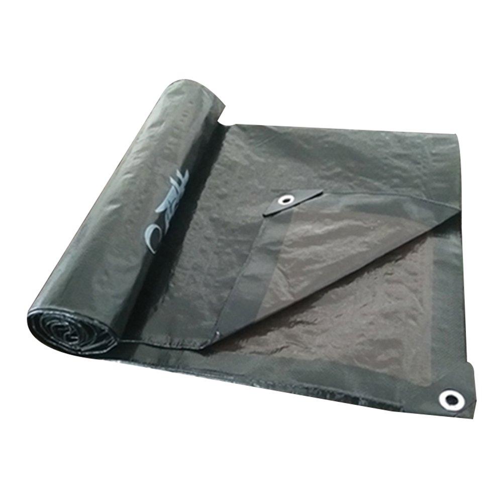 GLJ Regenschutztuch-Sonnenschutztuch des Elektroautos Wasserdichtes Tuch Anti-Sun-Plane Dicker Auto-LKW-Sonnenschutz Im Freien Plane (Farbe   schwarz+braun, größe   5x6m)