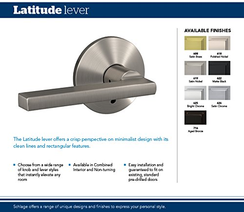 Schlage Custom FC48 LAT 48 COL Latitude Lever With Collins Trim Amazing How To Pick A Bedroom Door Lock Minimalist