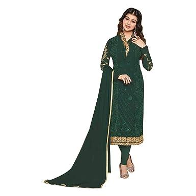 Amazon.com: Traje largo y recto de estilo indio Salwar ...