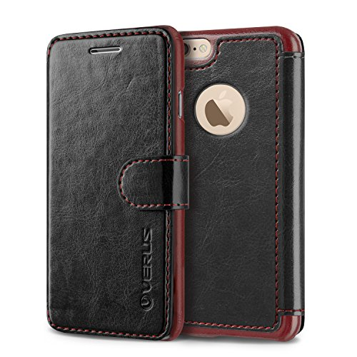 Vrs Design Layered Dandy Wallet Case Soft PU leather for iPhone 6/6S Black