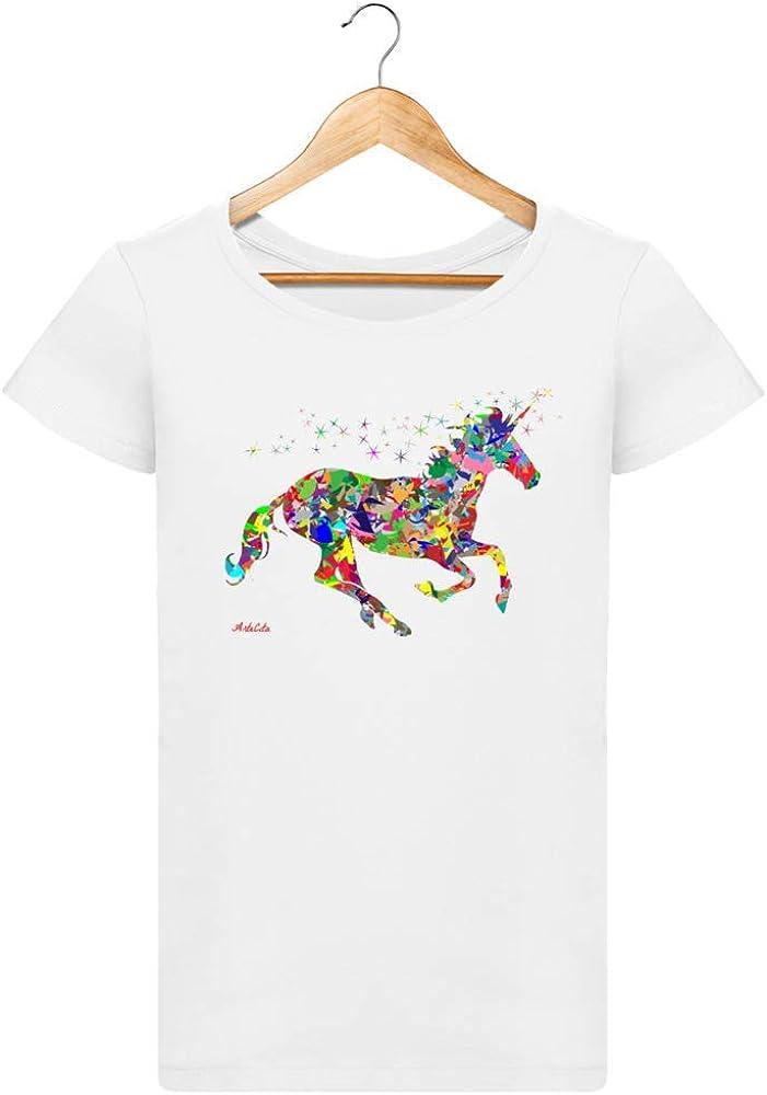 ArteCita - Camiseta de algodón orgánico Estampada Blanca para ...