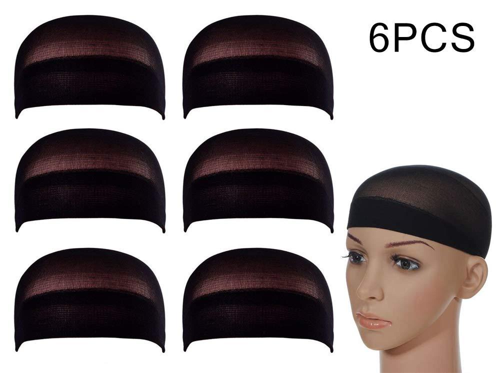 Calotte per Parrucca di Nylon Unisex Wig Caps, Calza Tappi Parrucca Hairnet Cap Protezione Della Parrucca Cap Retina per Capelli, Copricapo di Parrucche per Donne e Uomini(Nude, 6 pezzi) iLoveCos FL-WigCaps-nude -6pcs