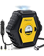 Portable Air Compressor for Car Tires, DC 12V Tire Inflator Car Tire Pump with LED Light and 10 Ft Longer Power Cord, Auto Shut Off Digital Air Pump for Cars Bicycles and Other Inflatables