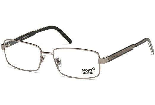76b1d531f4 Montblanc Rx Eyeglasses - MB0622 034 - Pewter (55 16 145) at Amazon ...