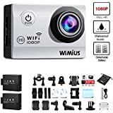 WIMIUS Q2 Sports Action Camera 1080P 12M WiFi 2.0 quot; Waterproof Video Camera 170 #186; Wide Angle